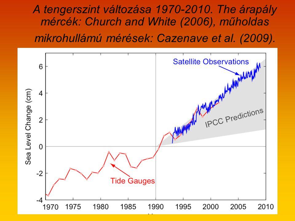 A tengerszint változása 1970-2010.