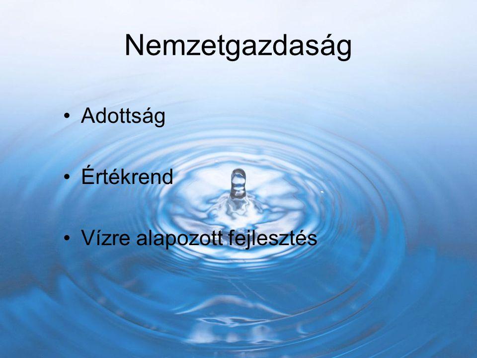 Nemzetgazdaság Adottság Értékrend Vízre alapozott fejlesztés