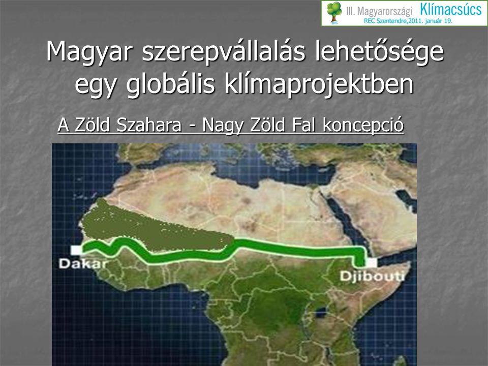 Magyar szerepvállalás lehetősége egy globális klímaprojektben A Zöld Szahara - Nagy Zöld Fal koncepció