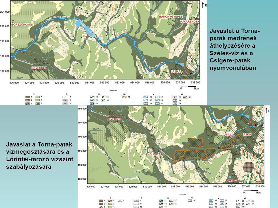 Javaslat a Torna-patak vízmegosztására és a Lőrintei-tározó vízszint szabályozására Javaslat a Torna- patak medrének áthelyezésére a Széles-víz és a C