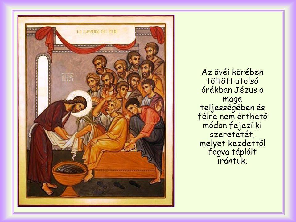 János evangélista írja, mielőtt beszámolna arról, hogy Jézus megmosta tanítványai lábát és felkészült a szenvedésre.