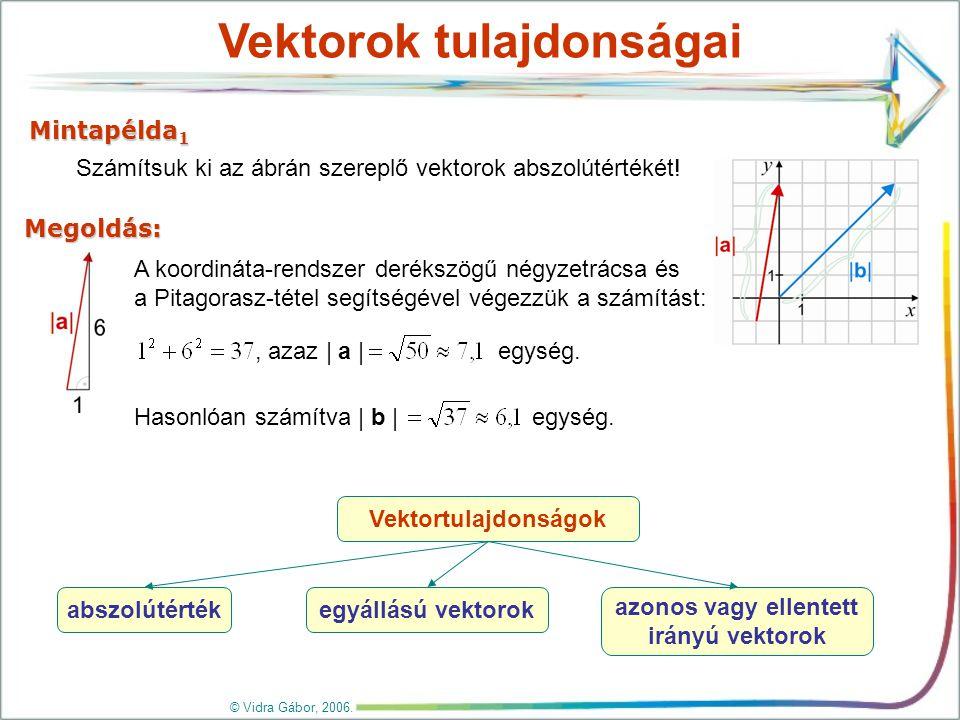 Vektorok egyenlősége, elnevezések © Vidra Gábor, 2006.