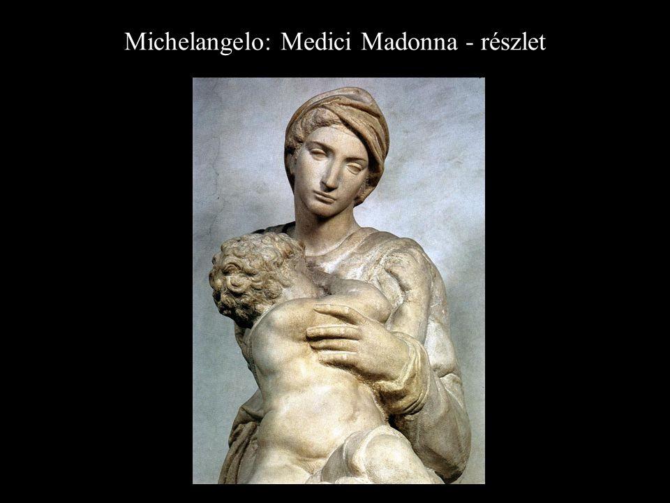 Michelangelo: Medici Madonna - részlet