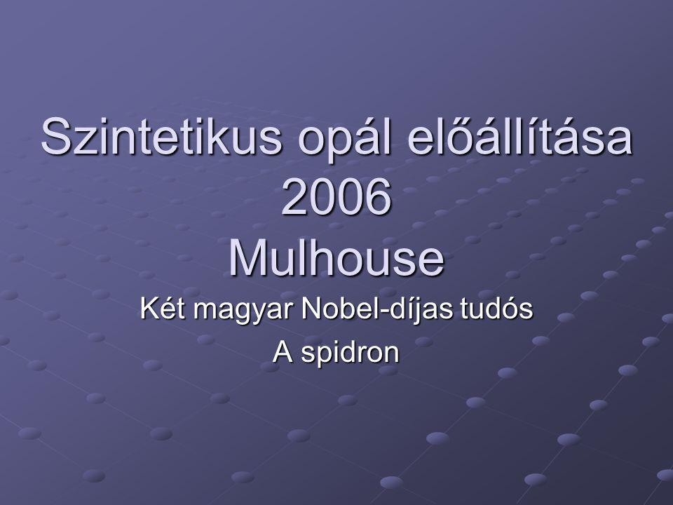 Szintetikus opál előállítása 2006 Mulhouse Két magyar Nobel-díjas tudós A spidron
