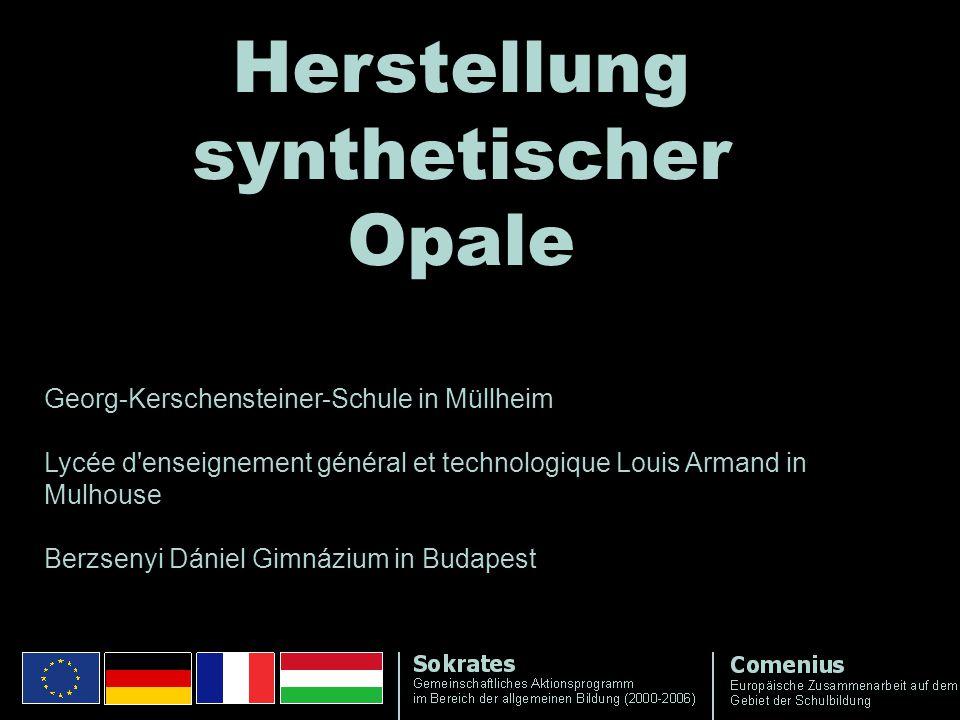 Herstellung synthetischer Opale Georg-Kerschensteiner-Schule in Müllheim Lycée d'enseignement général et technologique Louis Armand in Mulhouse Berzse