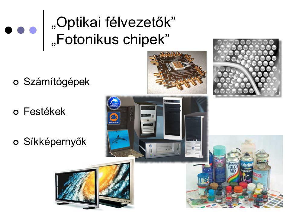 """""""Optikai félvezetők"""" """"Fotonikus chipek"""" Számítógépek Festékek Síkképernyők"""