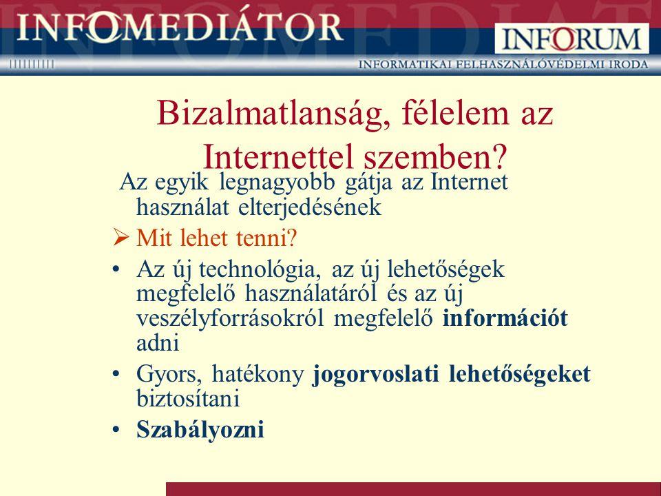 Bizalmatlanság, félelem az Internettel szemben? Az egyik legnagyobb gátja az Internet használat elterjedésének  Mit lehet tenni? Az új technológia, a