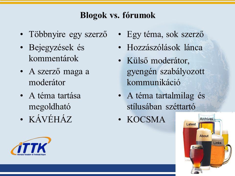 Blogok vs.
