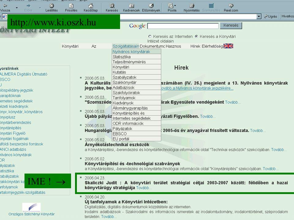 IME !  http://www.ki.oszk.hu