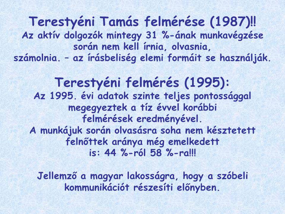 Terestyéni Tamás felmérése (1987)!.