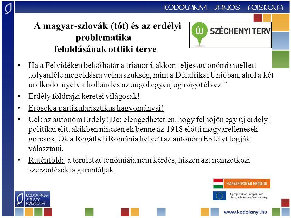 """Új Hungária –Szent István Birodalma """"… Szent István Birodalma nem kizárólag a miénk… hanem az itt élő magyar és nem magyar népességé együtt."""