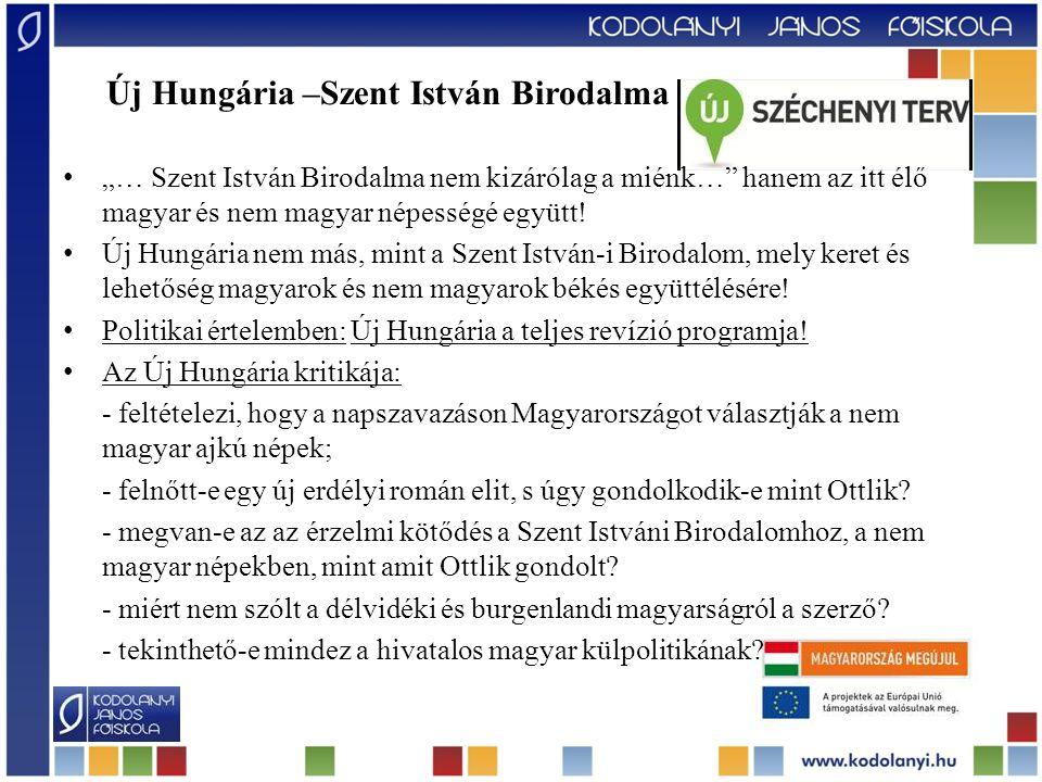 """Új Hungária –Szent István Birodalma """"… Szent István Birodalma nem kizárólag a miénk…"""" hanem az itt élő magyar és nem magyar népességé együtt! Új Hungá"""