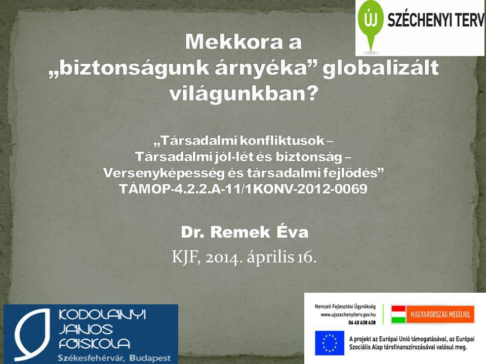 Dr. Remek Éva KJF, 2014. április 16. Intézményi logó