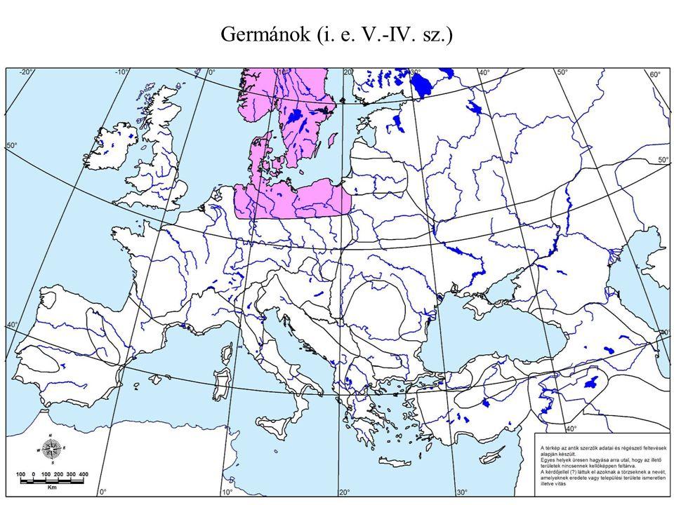A germánok szétvándorlása (II.-IV.sz.) 1.