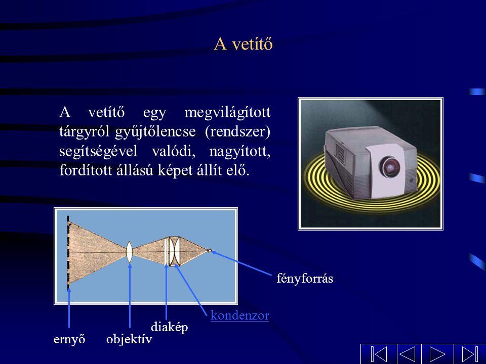 A lupe 2FFF O Az egyszerű nagyító, vagy lupe egy domború lencse, a legegyszerűbb látószögnövelő eszköz. A fókuszponton belüli tárgyról nagyított képet