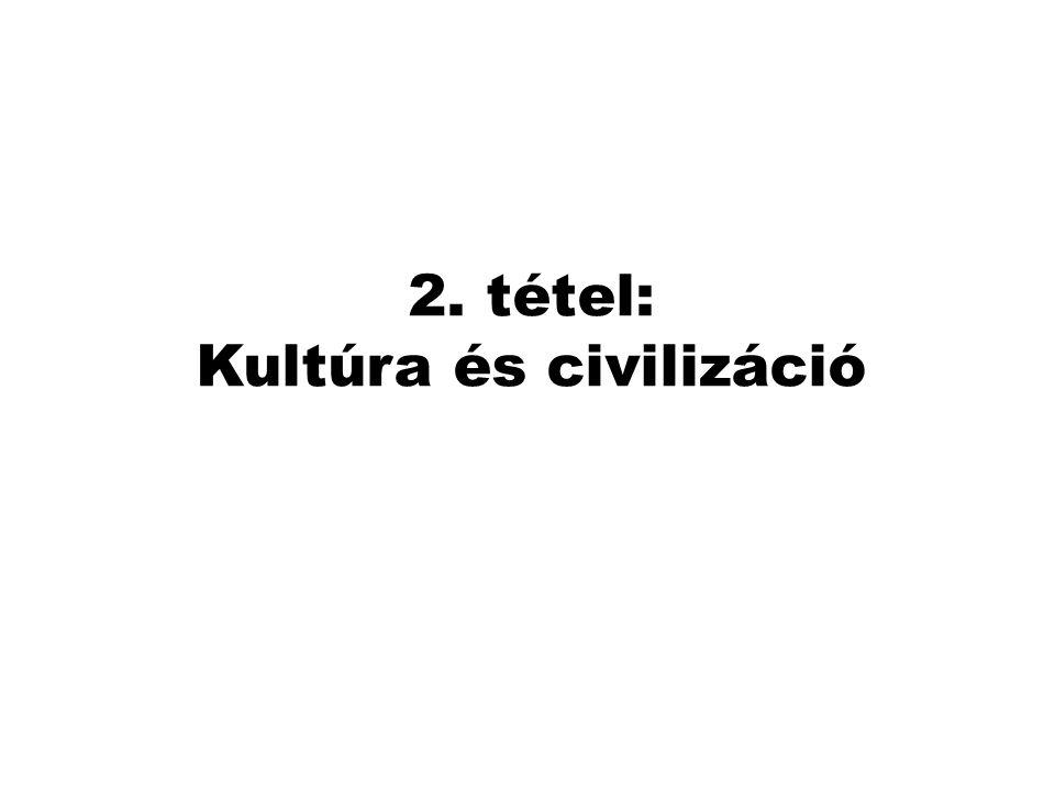2. tétel: Kultúra és civilizáció