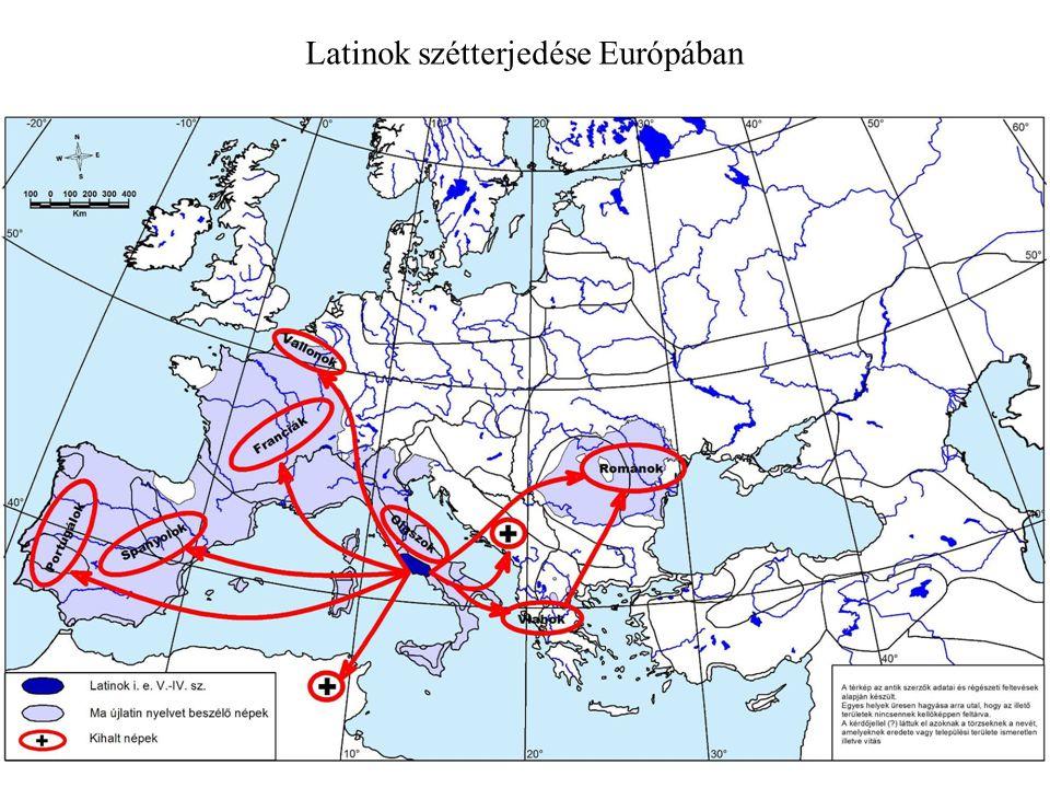 Latinok szétterjedése Európában