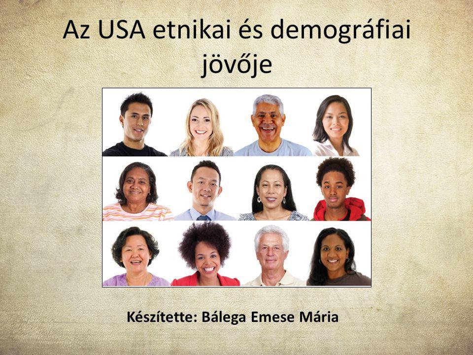 Az USA etnikai és demográfiai jövője Készítette: Bálega Emese Mária