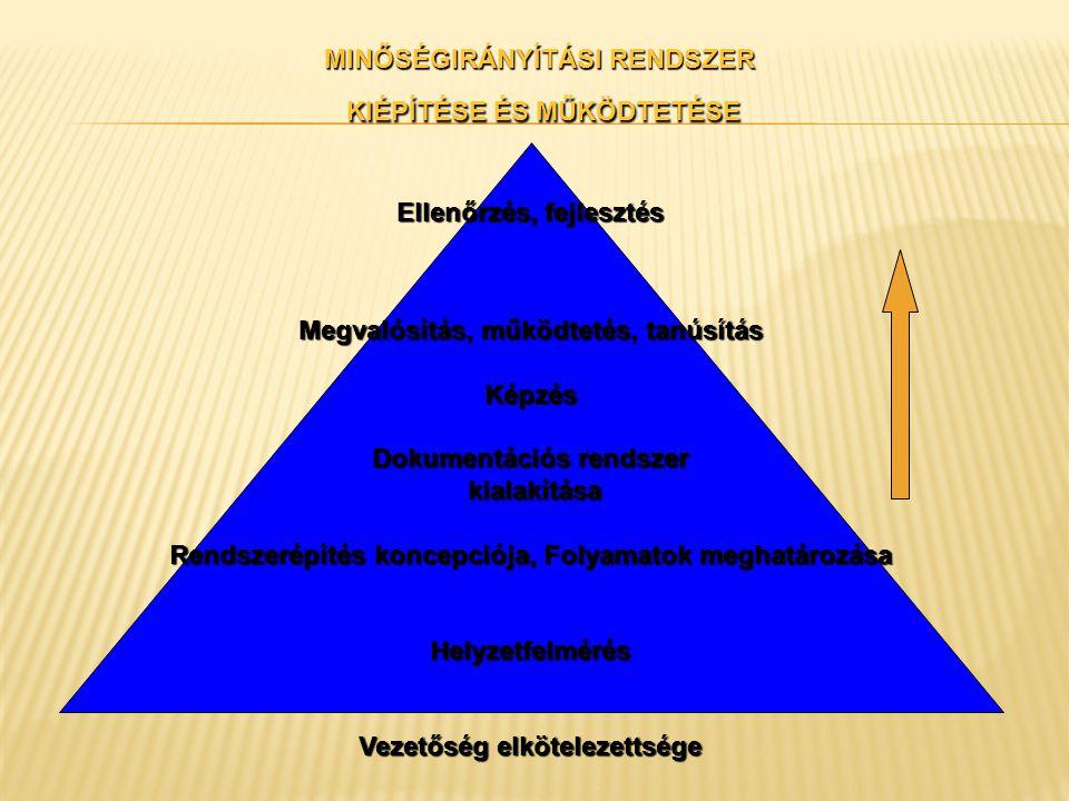 Felelősségi kör, hatáskör és kommunikáció Felelősségi körök és hatáskörök A felső vezetésnek meg kell határoznia a felelősségi köröket és hatásköröket a szervezetben.