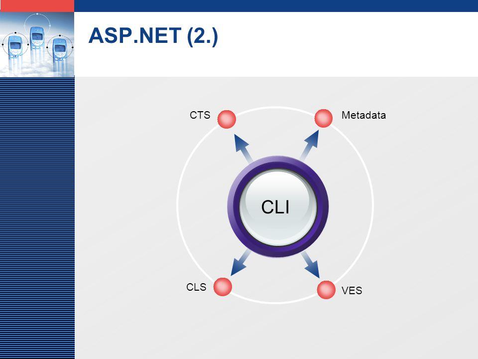 LOGO ASP.NET (2.) CLI MetadataCTS VES CLS
