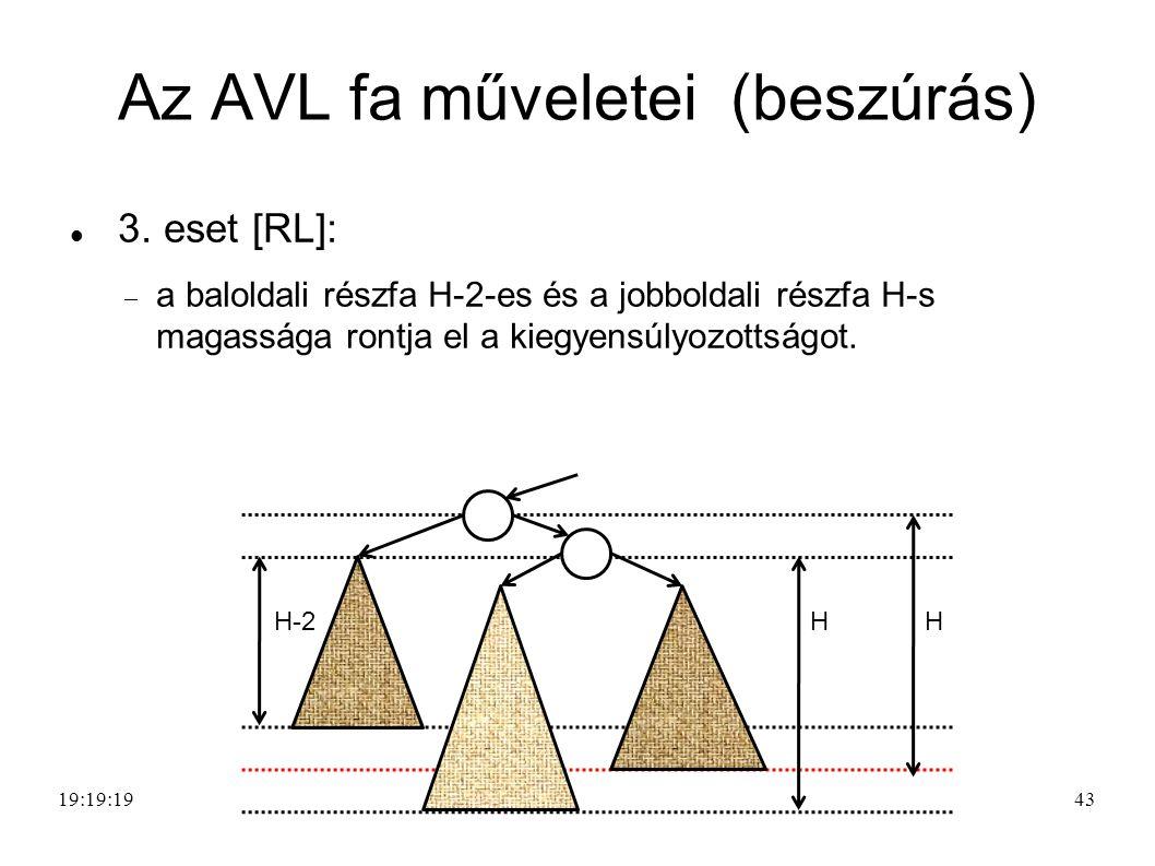 43 Az AVL fa műveletei (beszúrás) 3.