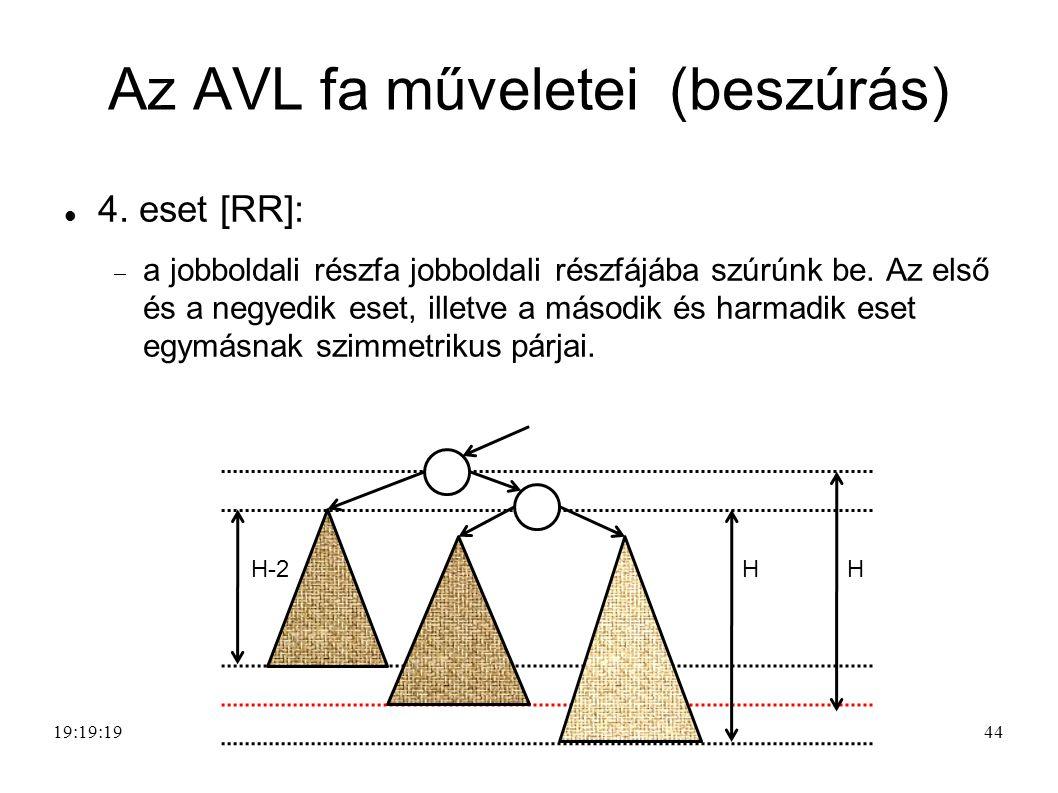 44 Az AVL fa műveletei (beszúrás) 4.