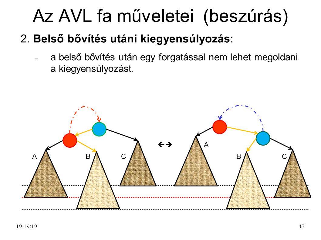 47 Az AVL fa műveletei (beszúrás) 2.