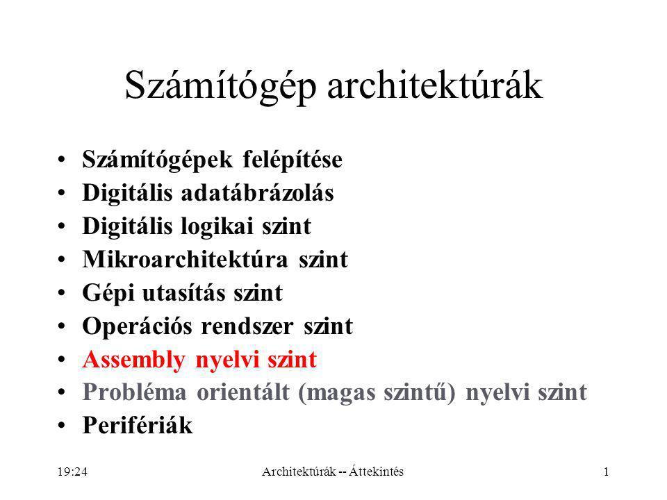 12 3: operációs rendszer szintje: speciális kiegészítők (memóriakezelés, párhuzamos futtatás, …).