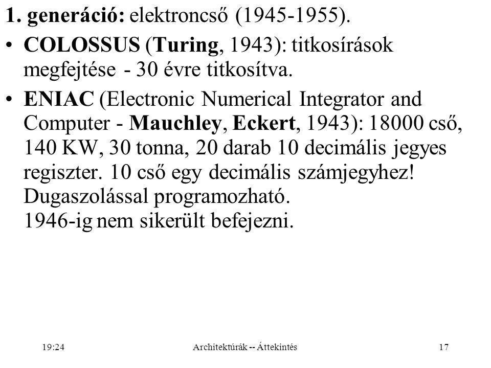 17 1.generáció: elektroncső (1945-1955).