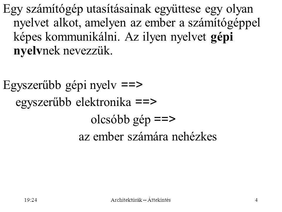 5 Legyen L 0 a gépi nyelv, és L 1 egy az ember számára kényelmesebb nyelv.