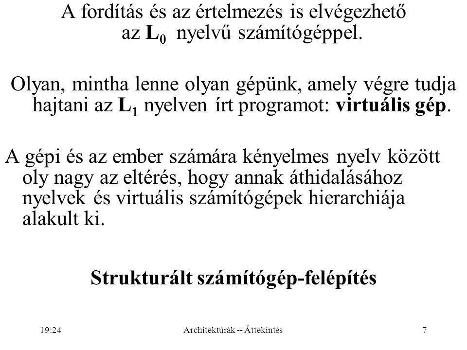 7 A fordítás és az értelmezés is elvégezhető az L 0 nyelvű számítógéppel.