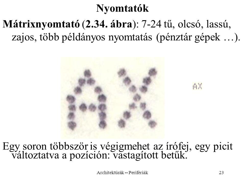 23 Nyomtatók Mátrixnyomtató (2.34.