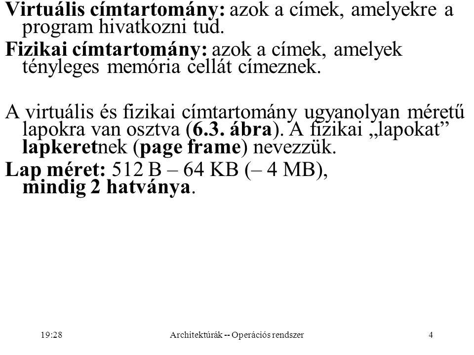 25 A lapkönyvtárnak azokhoz a mutatóihoz, amelyek nem mutatnak sehova, nem kell helyet foglalni a laptábla számára (rövid szegmenshez csak két db.