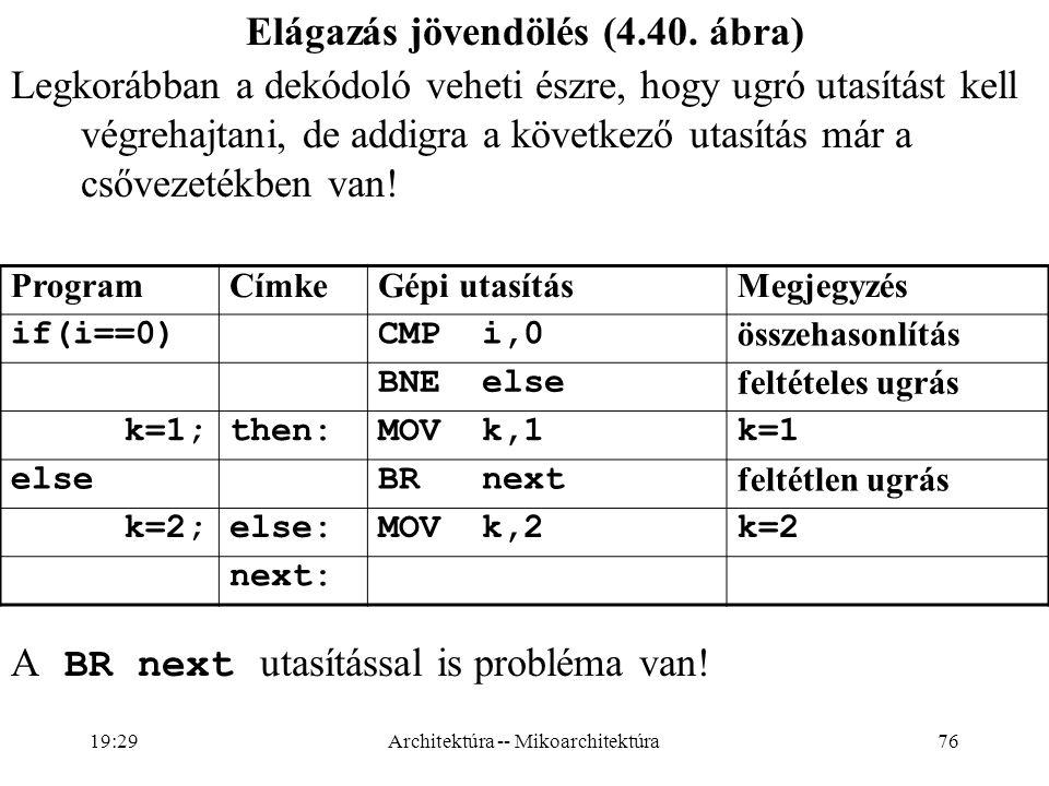 76 Elágazás jövendölés (4.40.