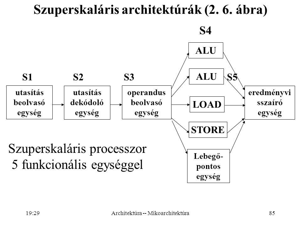 85 Szuperskaláris architektúrák (2.6.