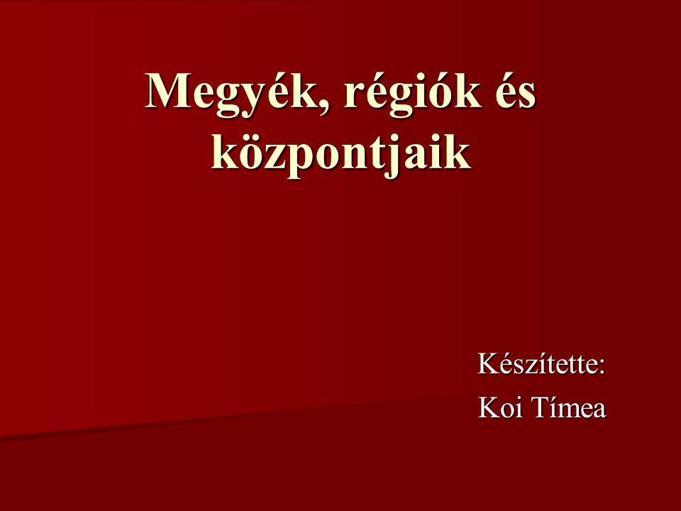 Vas megye: Magyarország nyugati részén található.Székhelye Szombathely.