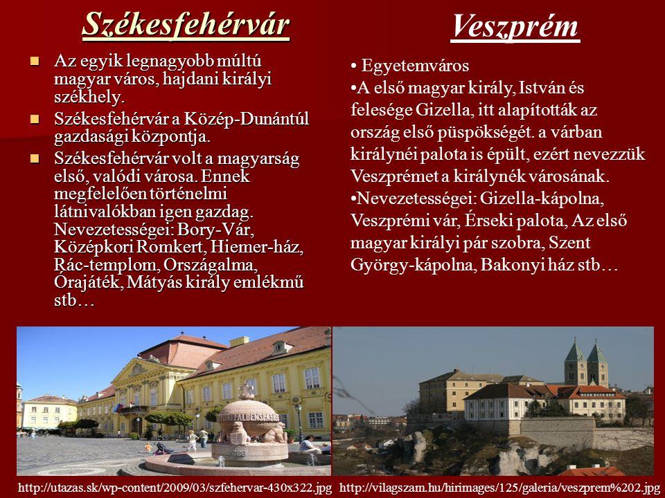 Székesfehérvár Az egyik legnagyobb múltú magyar város, hajdani királyi székhely. Az egyik legnagyobb múltú magyar város, hajdani királyi székhely. Szé