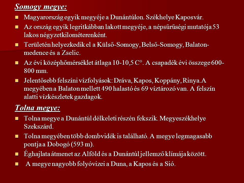 Somogy megye: Magyarország egyik megyéje a Dunántúlon. Székhelye Kaposvár. Magyarország egyik megyéje a Dunántúlon. Székhelye Kaposvár. Az ország egyi