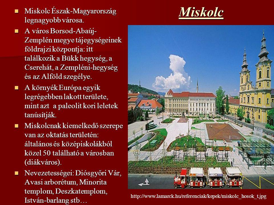 Miskolc Észak-Magyarország legnagyobb városa. Miskolc Észak-Magyarország legnagyobb városa. A város Borsod-Abaúj- Zemplén megye tájegységeinek földraj