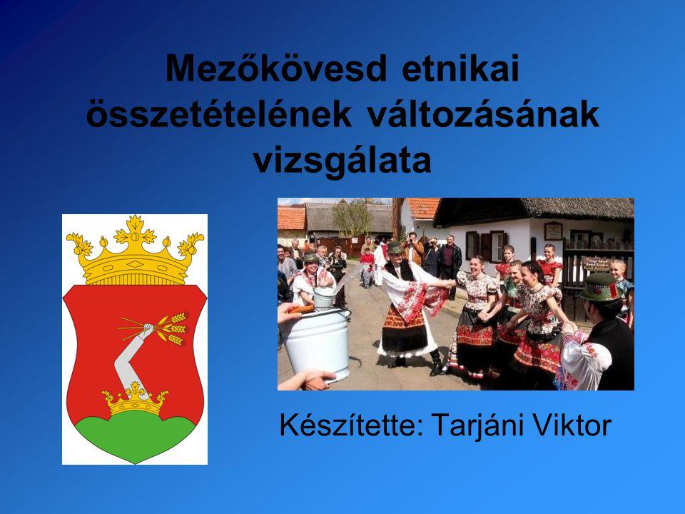 Mezőkövesd etnikai összetételének változásának vizsgálata Készítette: Tarjáni Viktor
