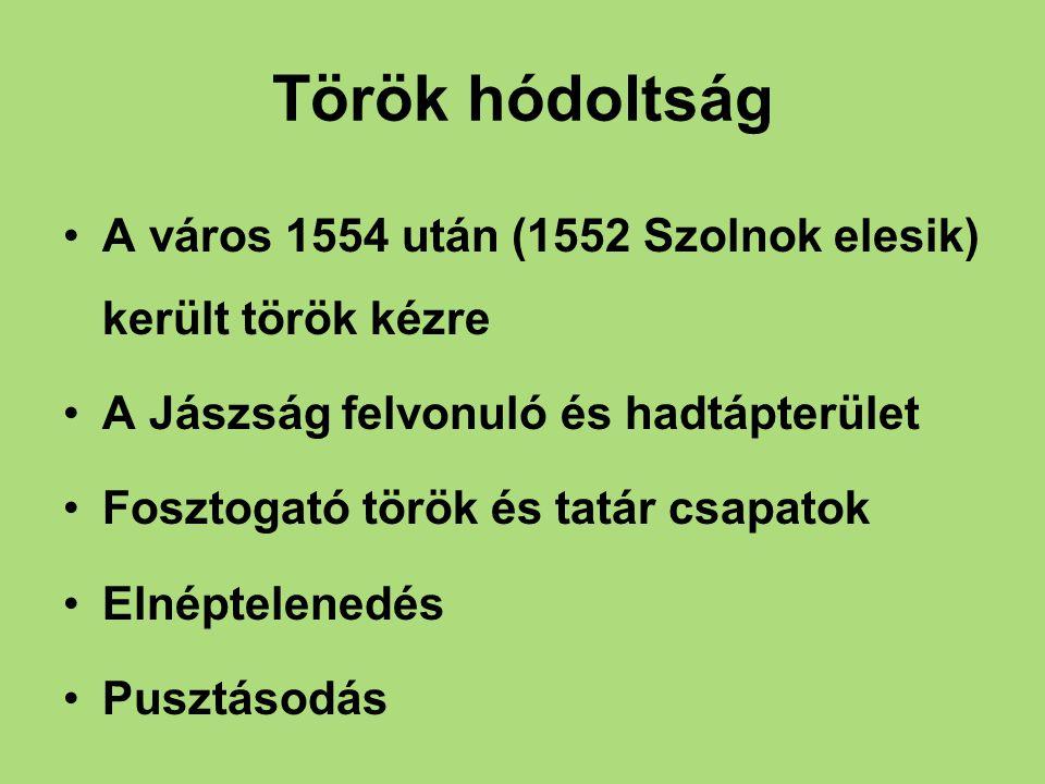 Török hódoltság Kevés adat, török adóösszeírásokból 1550: 34 adózó család 1566: 35 egész telkes jobbágy 1567: 27 család kb.