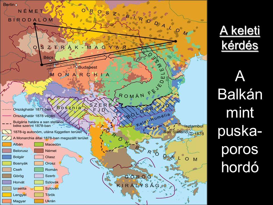 A keleti kérdés A keleti kérdés A Balkán mint puska- poros hordó