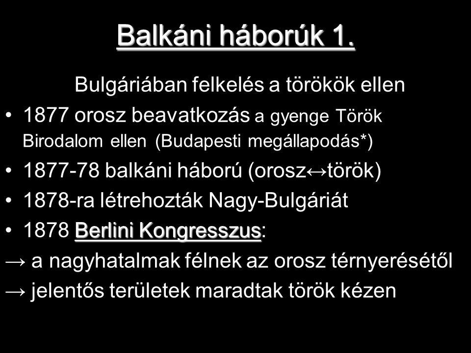 Balkáni háborúk 1.