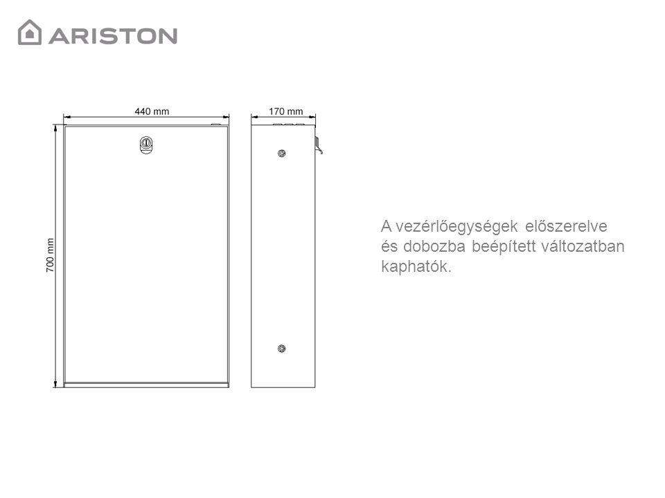 A vezérlőegységek előszerelve és dobozba beépített változatban kaphatók.