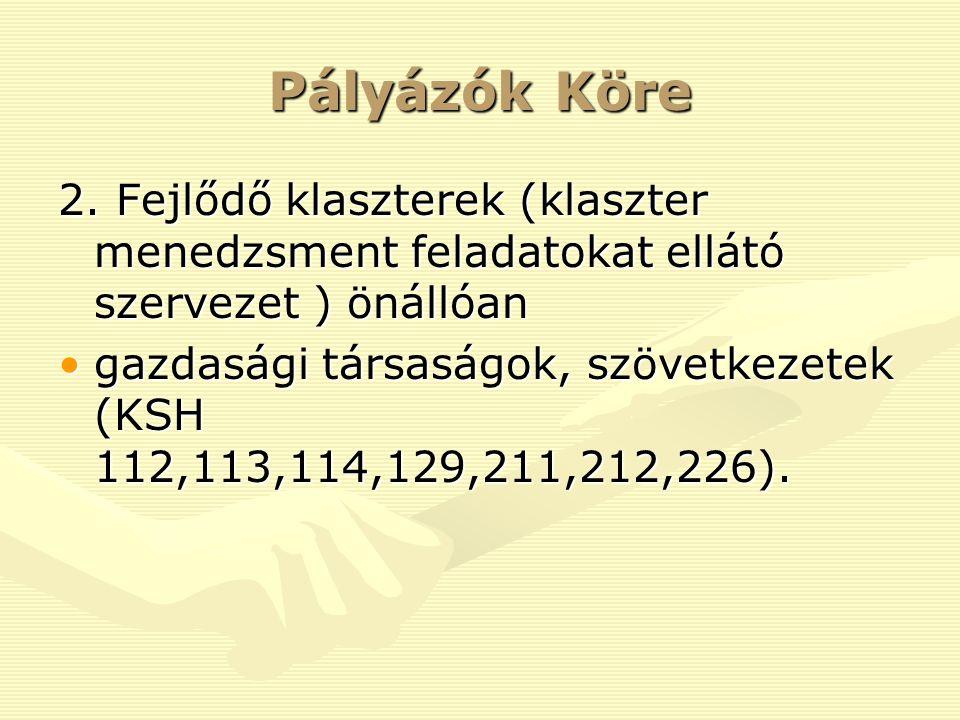 Pályázók Köre 2.