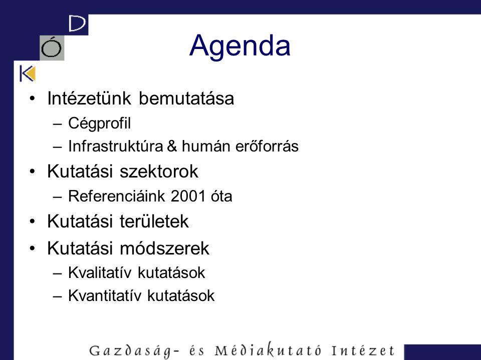 Cégprofil Cégalapítás: 1995 Fő tevékenység: piac- és közvélemény- kutatás Foglalkozunk munkaerő-kölcsönzéssel is