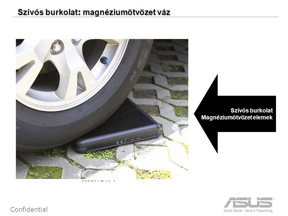 4 Confidential Szívós burkolat : magnéziumötvözet váz Szívós burkolat Magnéziumötvözet elemek