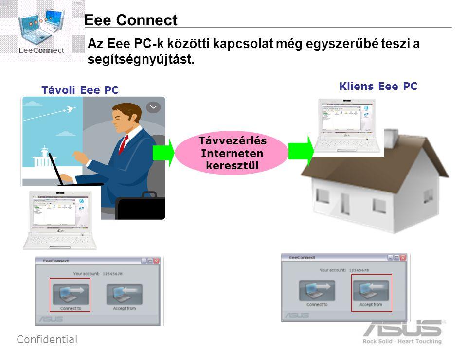 10 Confidential Az Eee PC-k közötti kapcsolat még egyszerűbé teszi a segítségnyújtást.