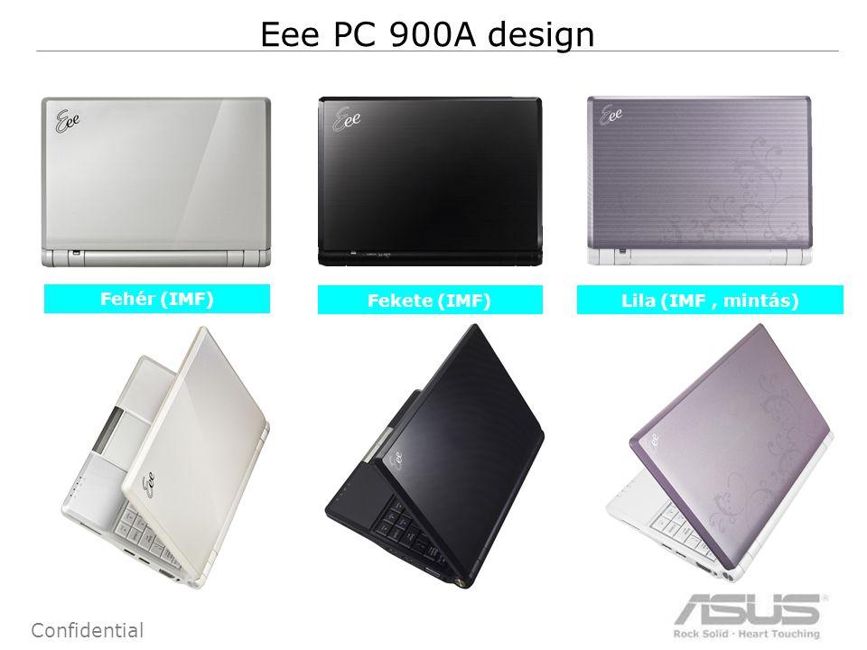 2 Confidential Eee PC 900A design Fehér (IMF) Fekete (IMF) Lila (IMF, mintás)