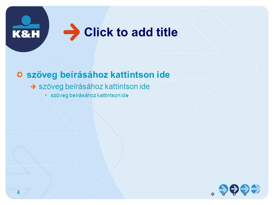 4 Click to add title szöveg beírásához kattintson ide